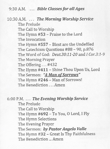 Christian dating order of worship
